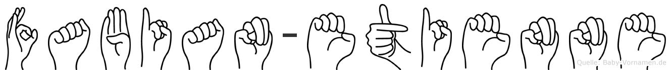 Fabian-Etienne im Fingeralphabet der Deutschen Gebärdensprache