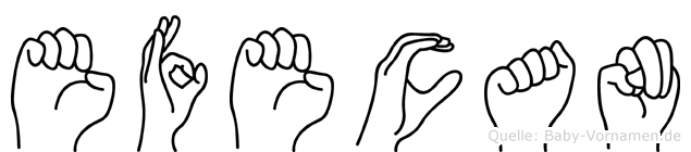 Efecan in Fingersprache für Gehörlose