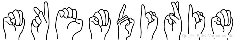 Nkemdirim in Fingersprache für Gehörlose