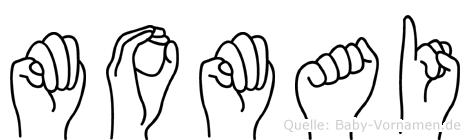 Momai in Fingersprache für Gehörlose