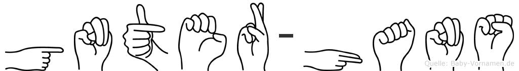 Günter-Hans im Fingeralphabet der Deutschen Gebärdensprache