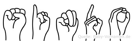 Sindo in Fingersprache für Gehörlose