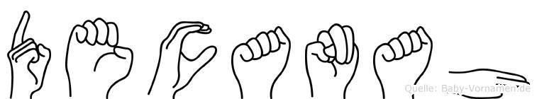 Decanah in Fingersprache für Gehörlose