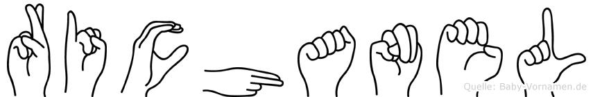 Richanel im Fingeralphabet der Deutschen Gebärdensprache