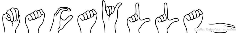Macayllah im Fingeralphabet der Deutschen Gebärdensprache