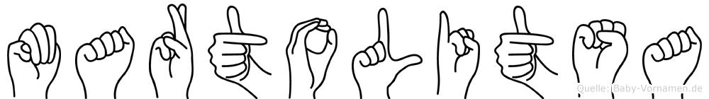 Martolitsa in Fingersprache für Gehörlose