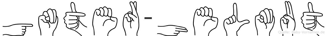 Günter-Helmut im Fingeralphabet der Deutschen Gebärdensprache