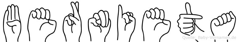 Bernieta in Fingersprache für Gehörlose