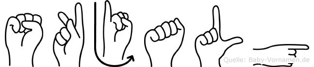 Skjalg in Fingersprache für Gehörlose