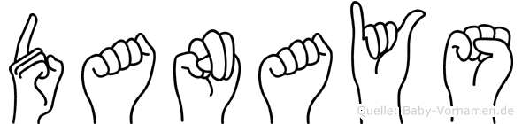 Danays im Fingeralphabet der Deutschen Gebärdensprache