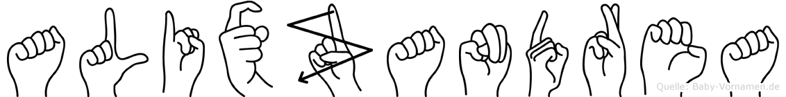 Alixzandrea in Fingersprache für Gehörlose