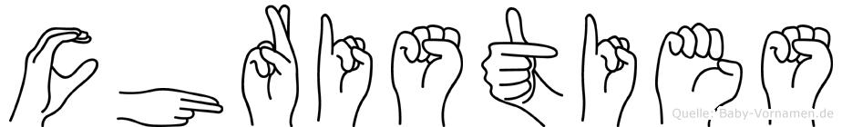 Christies in Fingersprache für Gehörlose