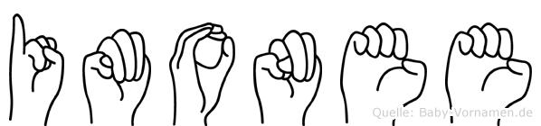 Imonee in Fingersprache für Gehörlose
