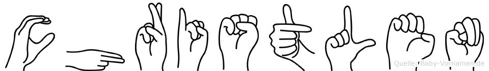 Christlen in Fingersprache für Gehörlose