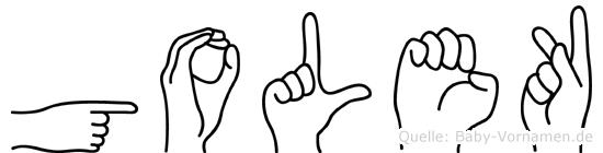 Golek in Fingersprache für Gehörlose