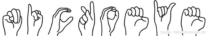 Nickoeye in Fingersprache für Gehörlose