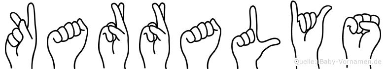 Karralys im Fingeralphabet der Deutschen Gebärdensprache