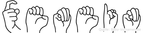 Xemein in Fingersprache für Gehörlose