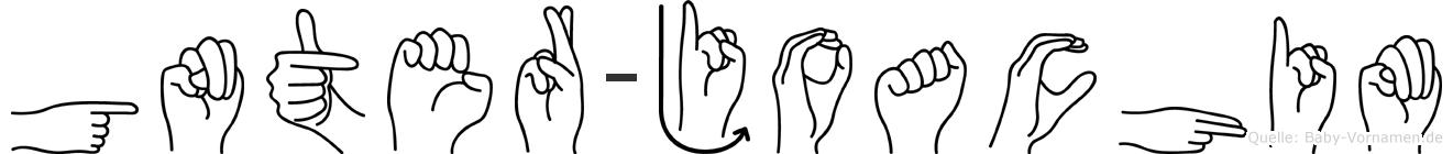 Günter-Joachim im Fingeralphabet der Deutschen Gebärdensprache