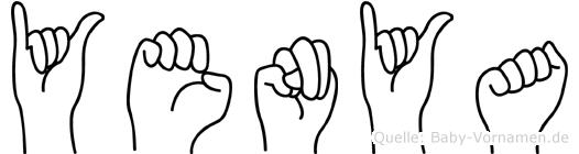 Yenya in Fingersprache für Gehörlose