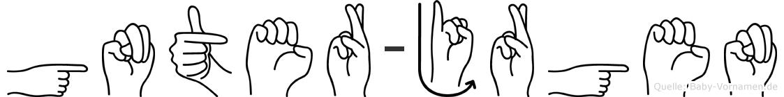 Günter-Jürgen im Fingeralphabet der Deutschen Gebärdensprache