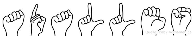 Adalles in Fingersprache für Gehörlose