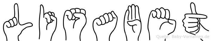 Lisabet im Fingeralphabet der Deutschen Gebärdensprache