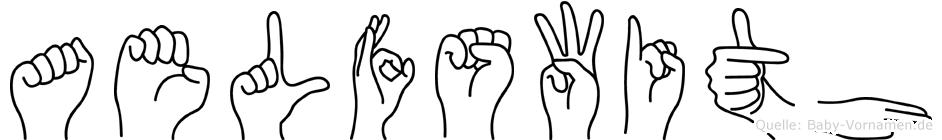 Aelfswith im Fingeralphabet der Deutschen Gebärdensprache