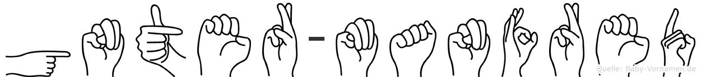Günter-Manfred im Fingeralphabet der Deutschen Gebärdensprache