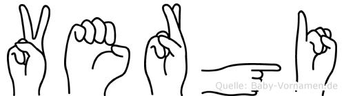 Vergi in Fingersprache für Gehörlose