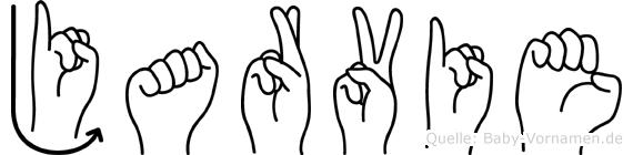 Jarvie im Fingeralphabet der Deutschen Gebärdensprache