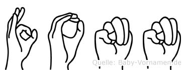 Fonn im Fingeralphabet der Deutschen Gebärdensprache