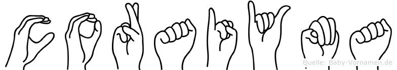 Coraiyma in Fingersprache für Gehörlose