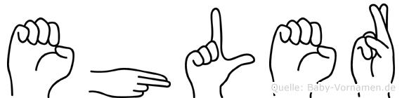 Ehler in Fingersprache für Gehörlose
