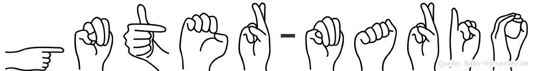 Günter-Mario im Fingeralphabet der Deutschen Gebärdensprache