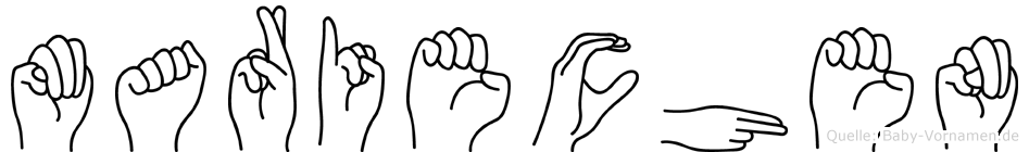 Mariechen im Fingeralphabet der Deutschen Gebärdensprache