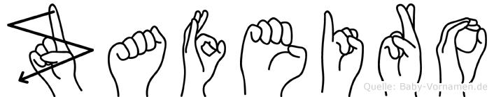 Zafeiro im Fingeralphabet der Deutschen Gebärdensprache