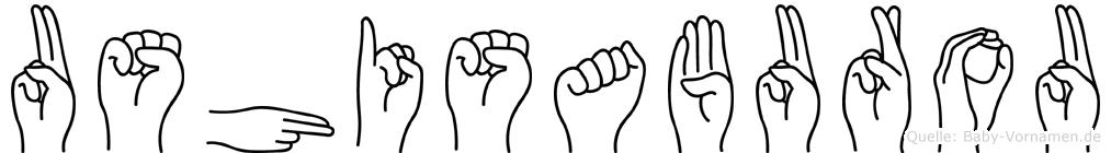Ushisaburou im Fingeralphabet der Deutschen Gebärdensprache