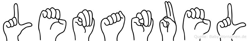Lemanuel im Fingeralphabet der Deutschen Gebärdensprache