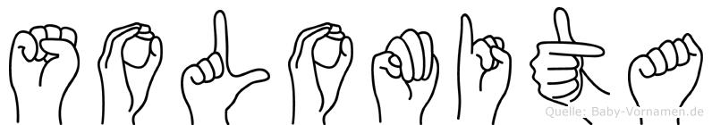 Solomita im Fingeralphabet der Deutschen Gebärdensprache