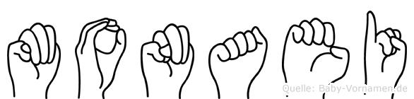 Monaei in Fingersprache für Gehörlose