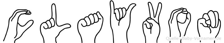 Clayvon in Fingersprache für Gehörlose