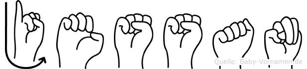 Jessan in Fingersprache für Gehörlose