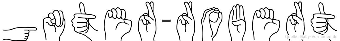 Günter-Robert im Fingeralphabet der Deutschen Gebärdensprache