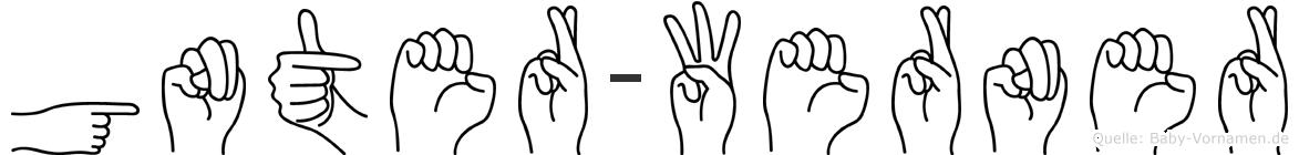 Günter-Werner im Fingeralphabet der Deutschen Gebärdensprache