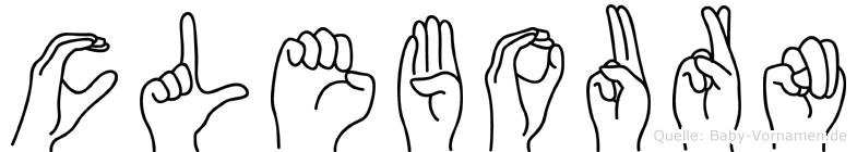 Clebourn im Fingeralphabet der Deutschen Gebärdensprache