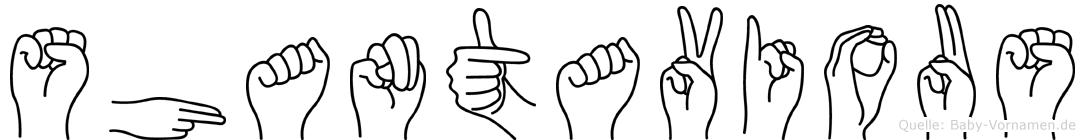 Shantavious im Fingeralphabet der Deutschen Gebärdensprache