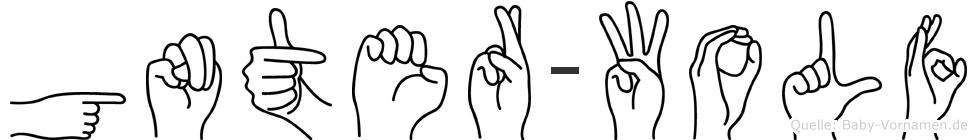 Günter-Wolf im Fingeralphabet der Deutschen Gebärdensprache