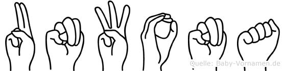 Unwona in Fingersprache für Gehörlose