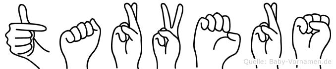 Tarvers in Fingersprache für Gehörlose